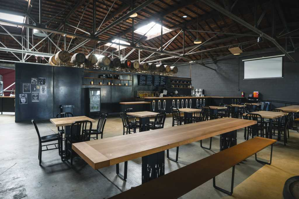 Interior of Ghost Town Brewing