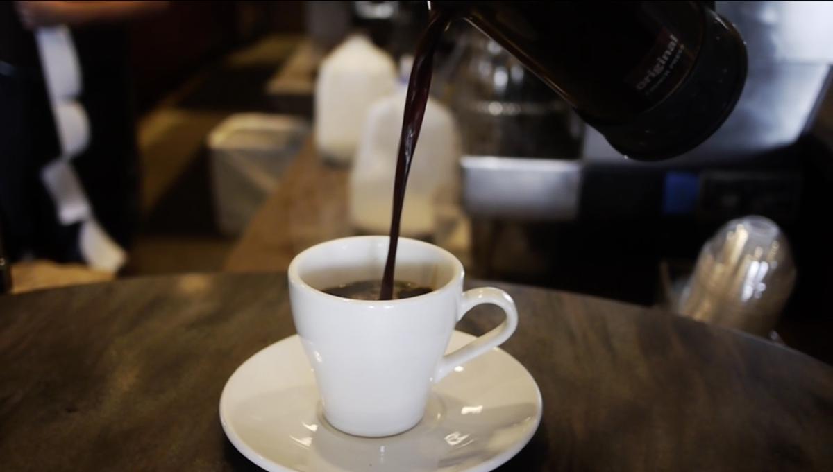 Coffee at CC's Coffee House in Lafayette, LA