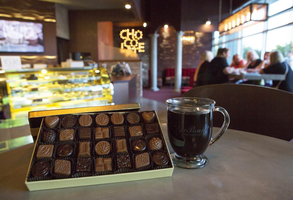 DeBrand Fine Chocolates - Downtown Fort Wayne - Ash Skyline Building Location