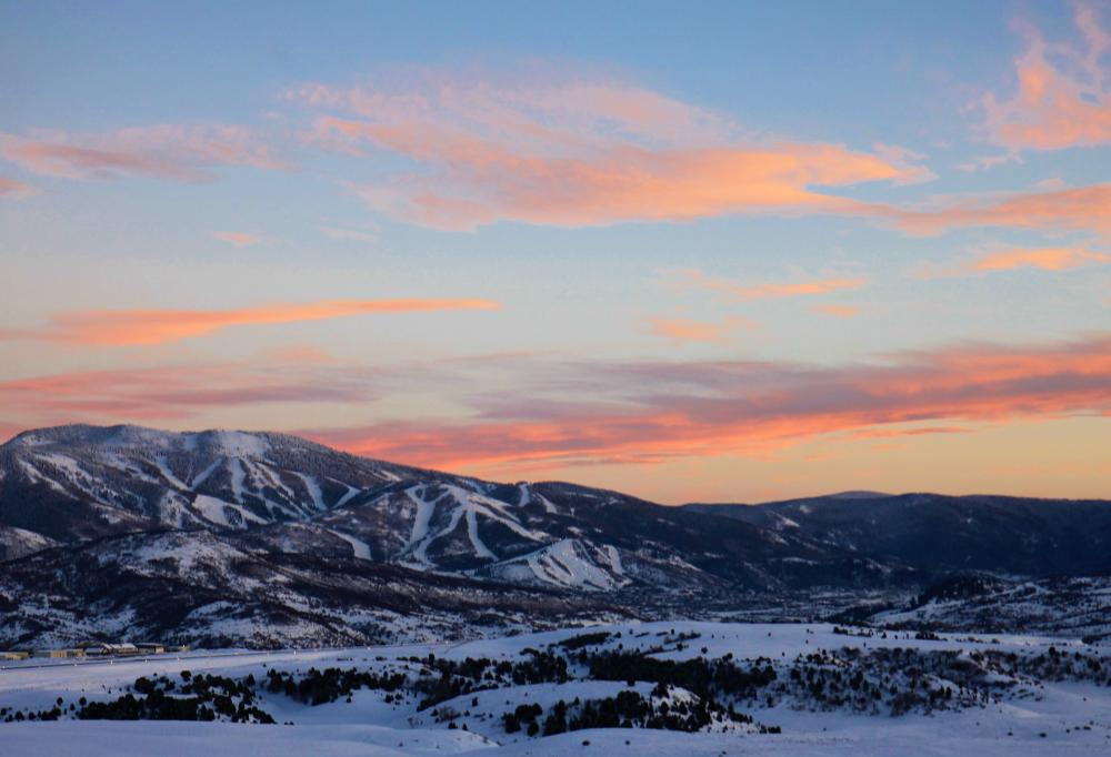 Steamboat Springs is a popular mountain destination in the winter.