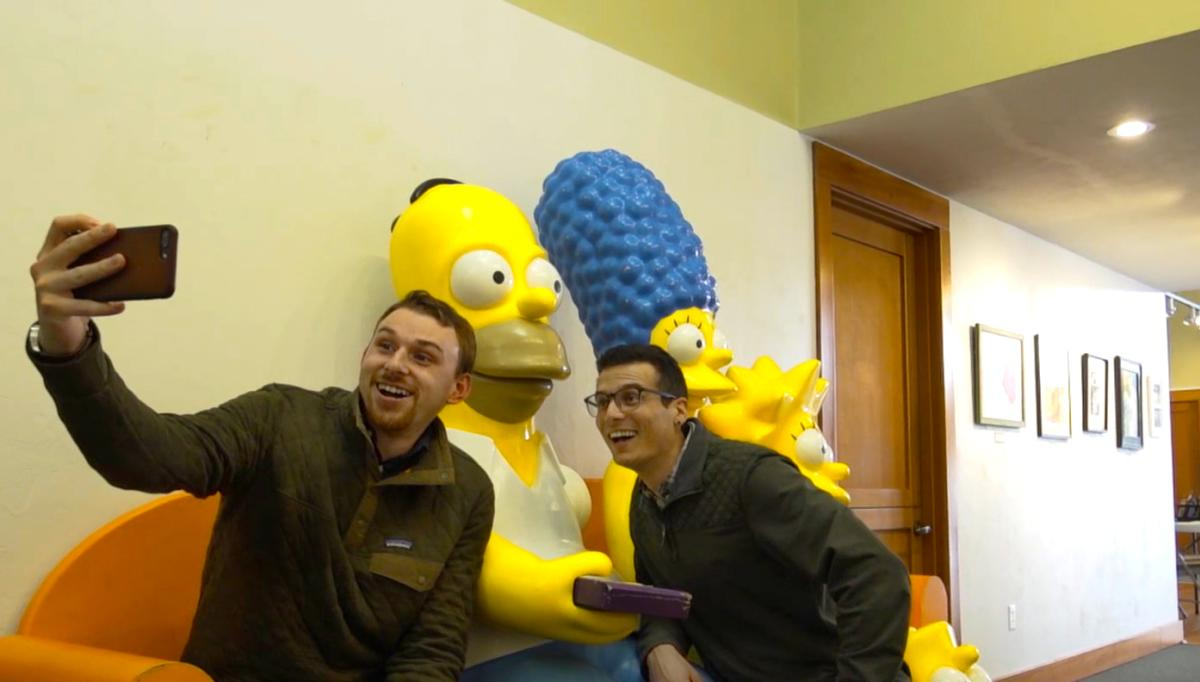 The Simpsons Family Statues at Emerald Art Museum by Colin Morton