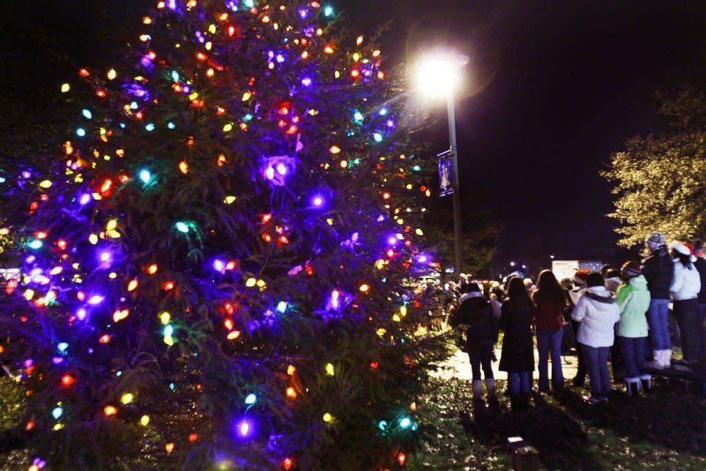 Robbinsville Senior Center Christmas tree lighting in NJ