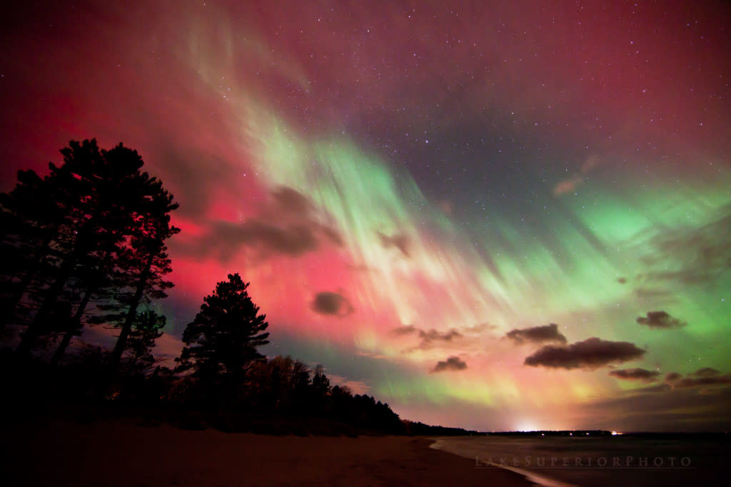Northern Lights From The Woods In Marquette, MI
