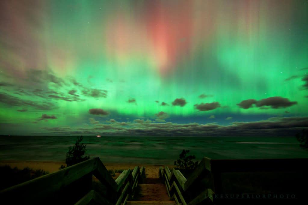 Northern Lights In Marquette, MI