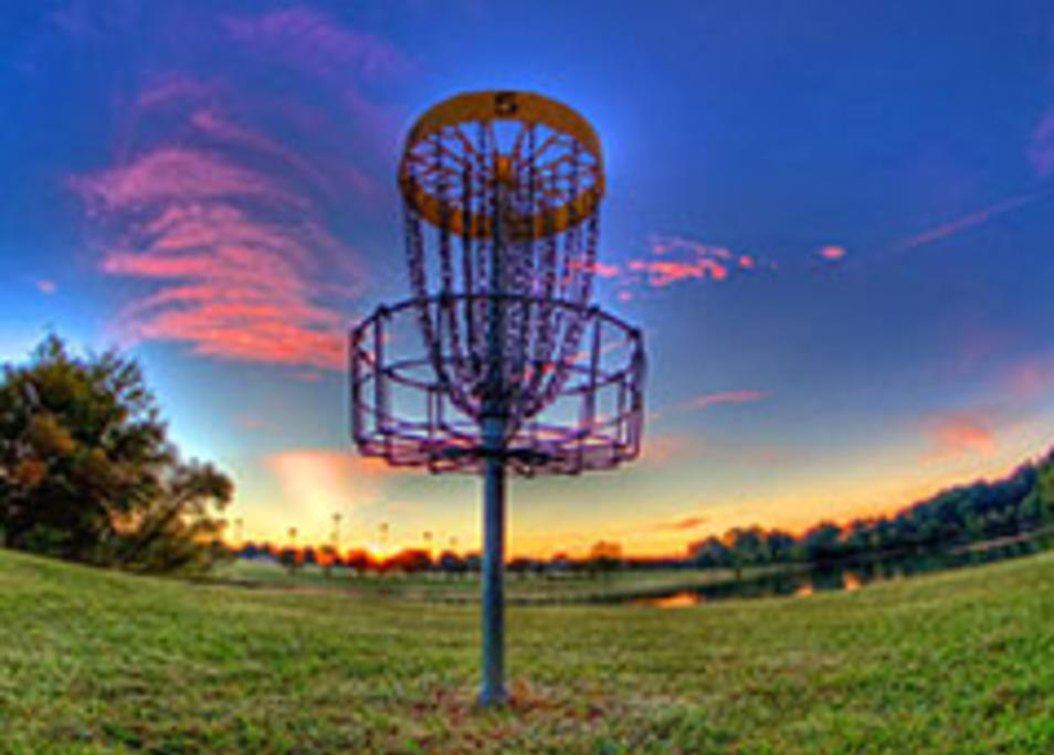 Disc golf sunset