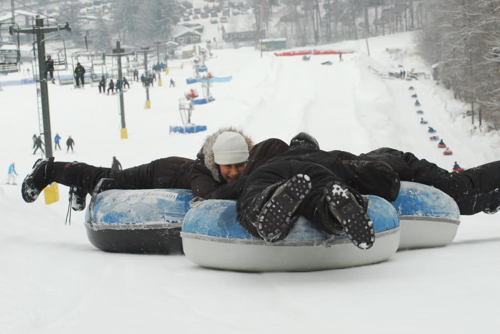 Snowtubing in Schwenksville is one of the discounted adventures available through the Winter Escape Pass being offered online by the Valley Forge Tourism & Convention Board