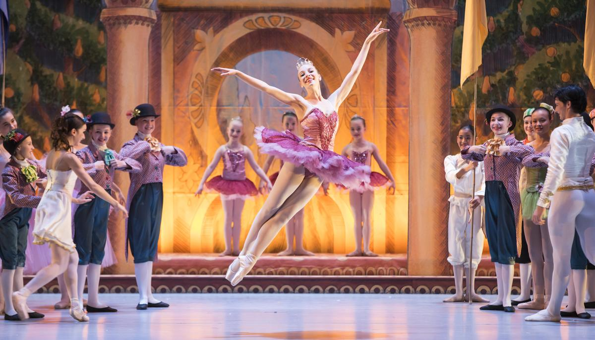 Ballerina performing during Boulder Ballet's Nutcracker