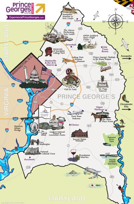 Illustrated Prince George's Map