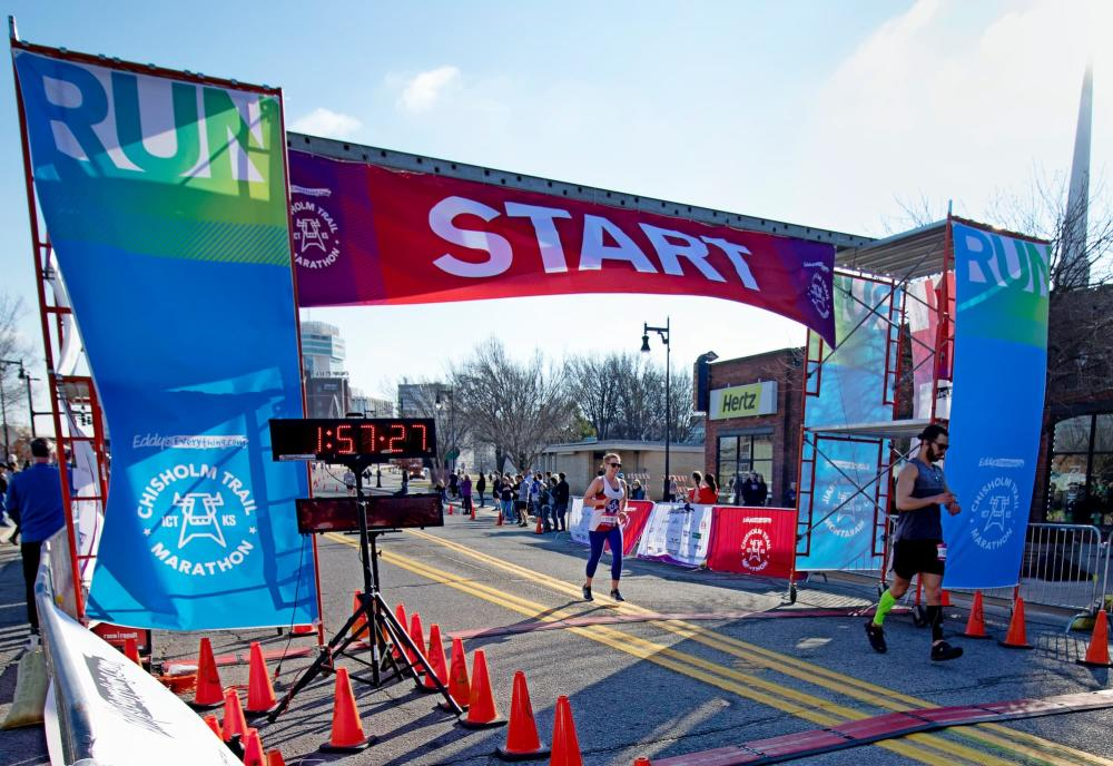 Chisholm Trail Marathon Start and Finish Line