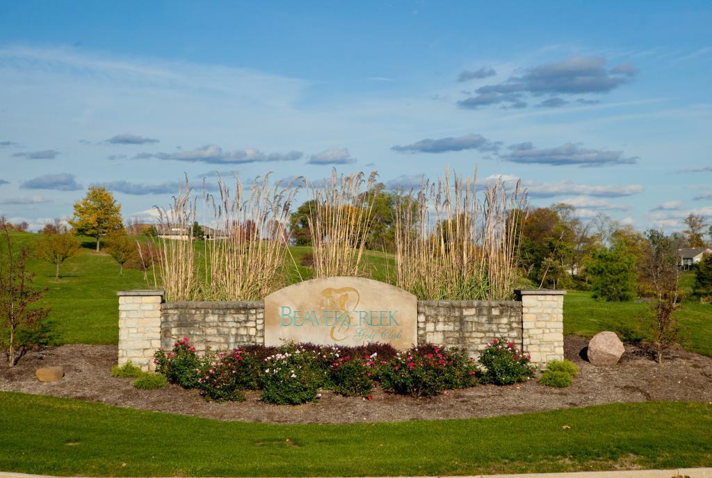 Beavercreek Golf Club Entrance Sign
