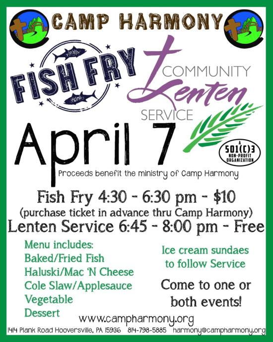 Camp Harmony Fish Fry