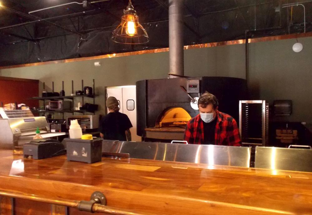 Wichita Brewing Company East Location Wearing Masks