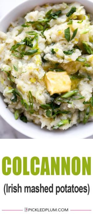 Colcannon recipe pinterest graphic