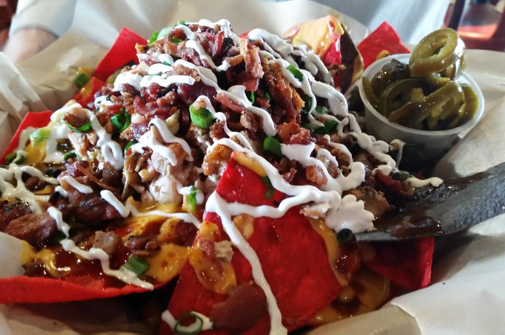 West Alley Loaded Nachos at West Alley BBQ & Smokehouse in Downtown Chandler