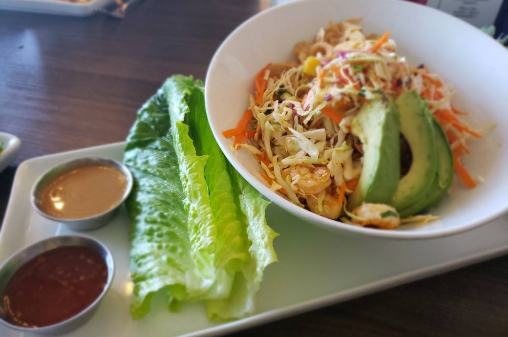 Tryst Café Thai Shrimp Lettuce Wrap