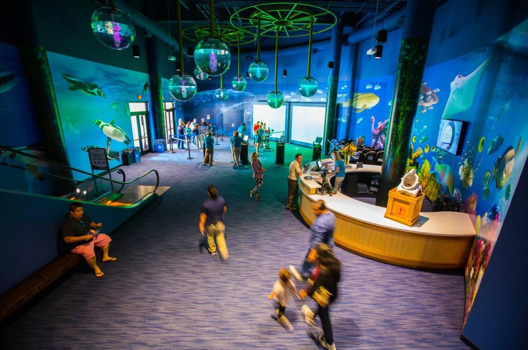 OdySea Aquarium Lobby