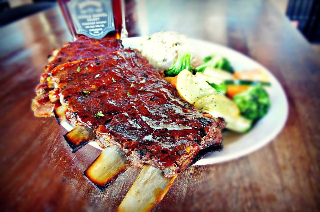 Rack of Ribs at Bourbon Jack's in Chandler, AZ