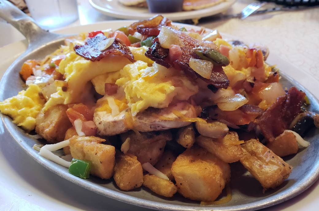 Breakfast Skillet at Chase's Diner