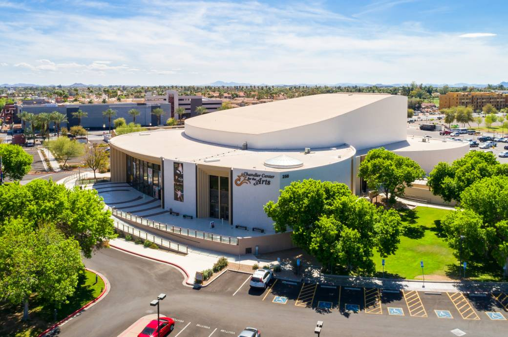 Chandler Center for the Arts Aerial