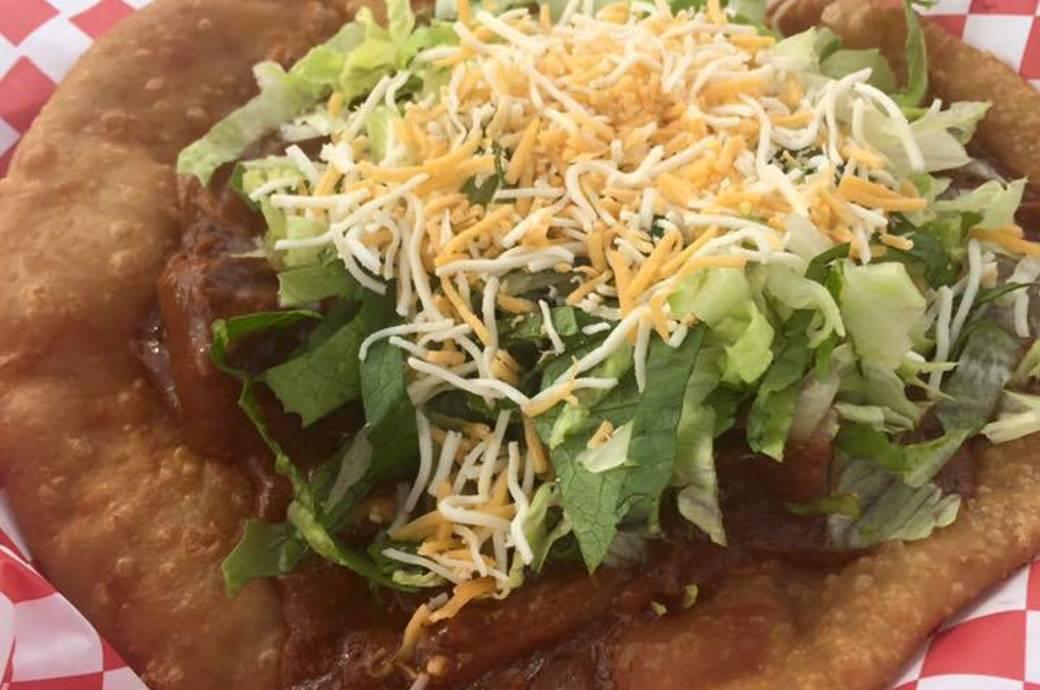 Elmer's Tacos serves fluffy frybread tacos in Chandler, AZ
