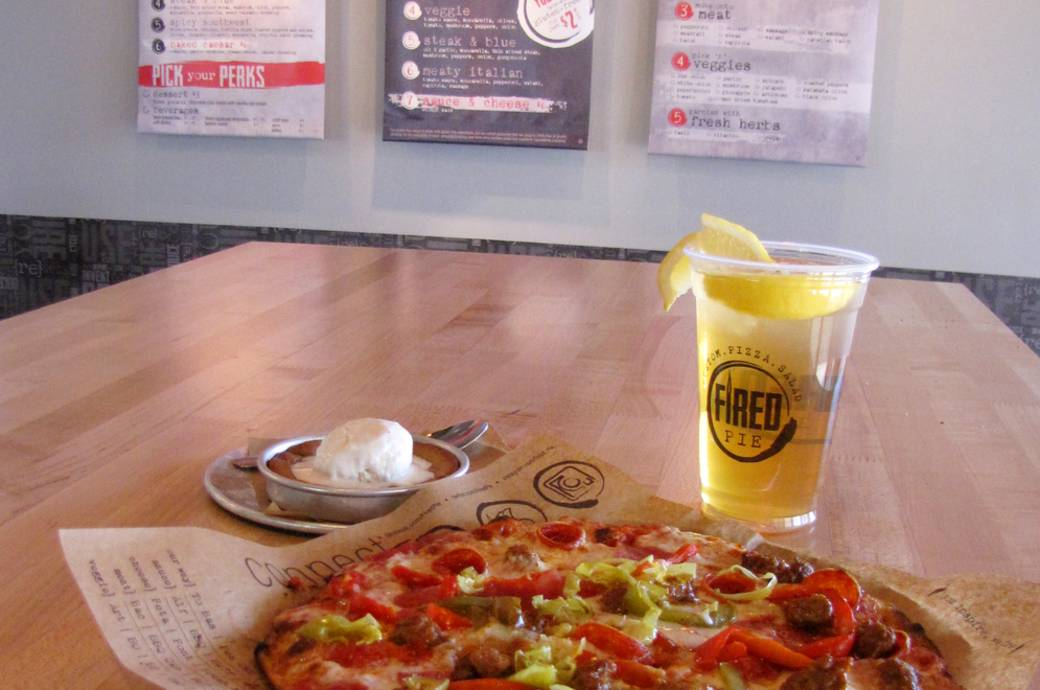 Fired Pie featuring customizable pizza in Chandler Arizona