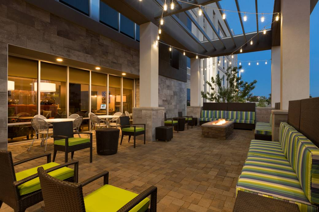 Home2 Suites by Hilton Phoenix Chandler PHXPC Outdoor Lounge with Fire Pit