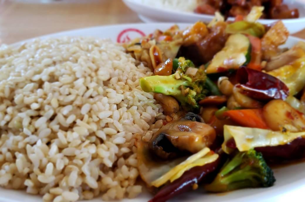 Kung Pao Tofu and Veggies at TOTT's Asian Diner