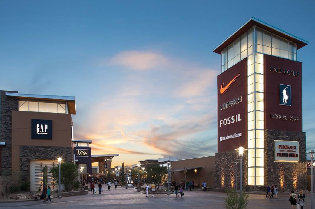 Phoenix Premium Outlets with 90 outlets at Wild Horse Pass in Chandler, AZ