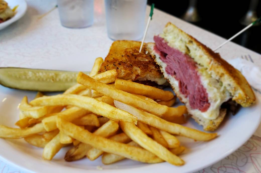 Reuben Sandwich at Chase's Diner