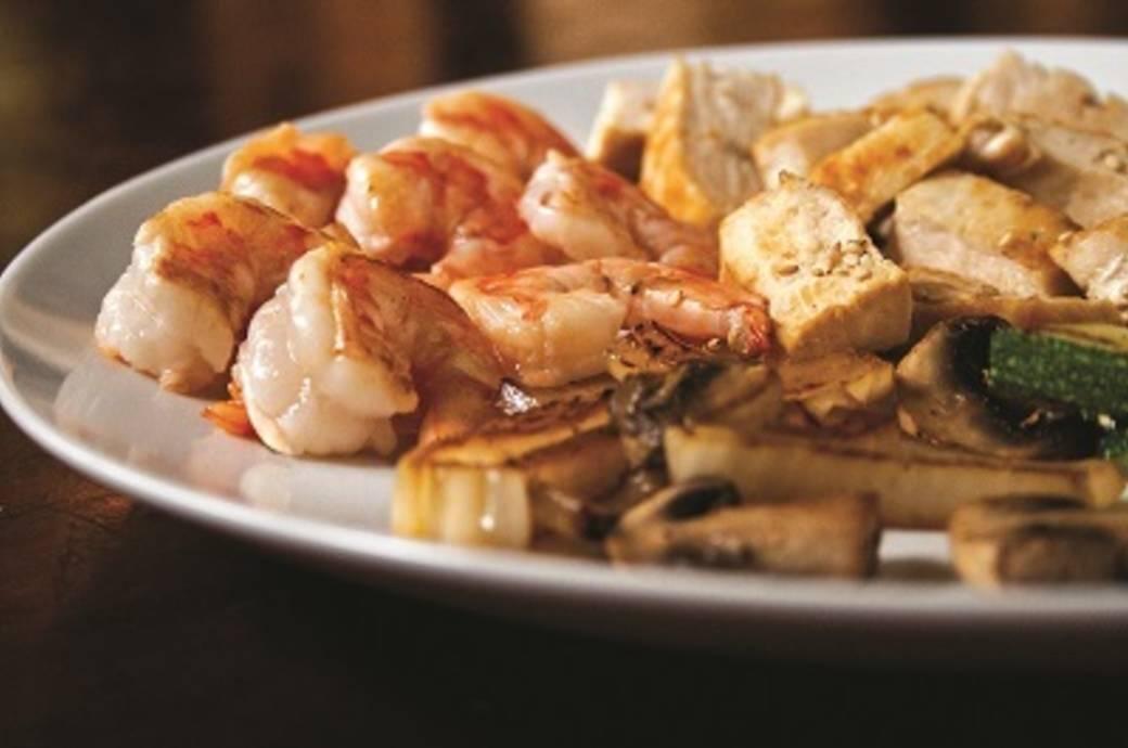 Benihana Shrimp and Chicken
