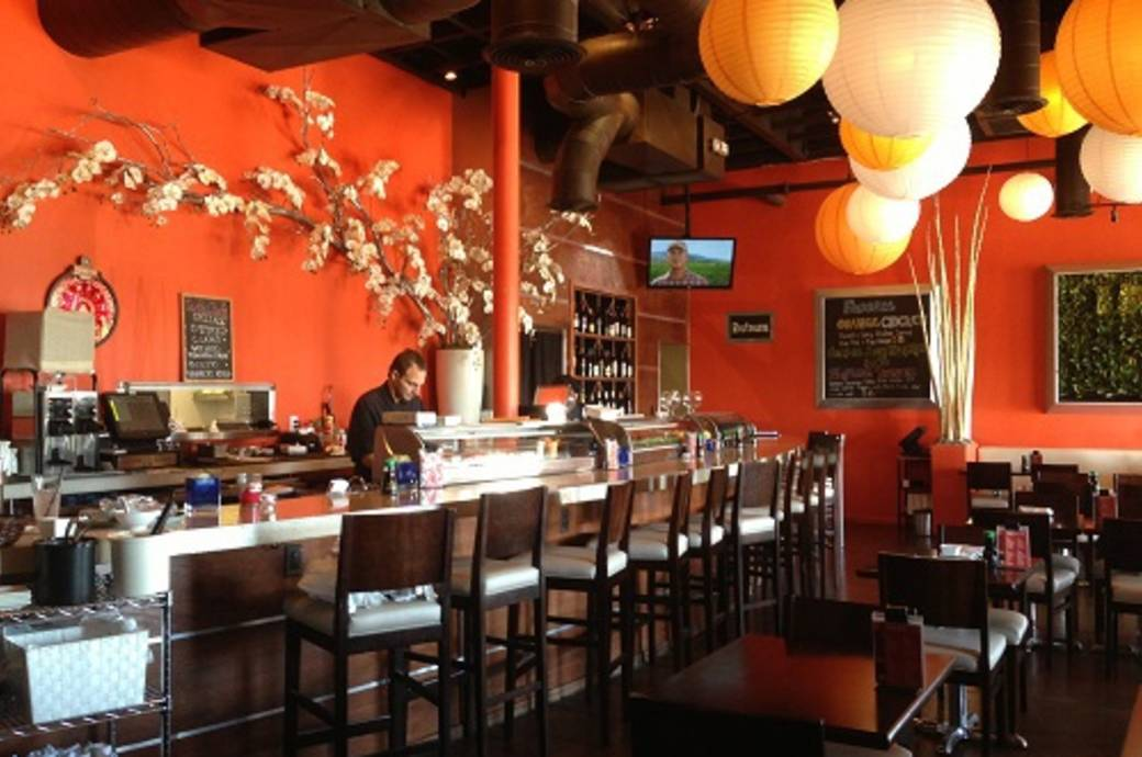 Dining room at The Sushi Room in Downtown Ocotillo