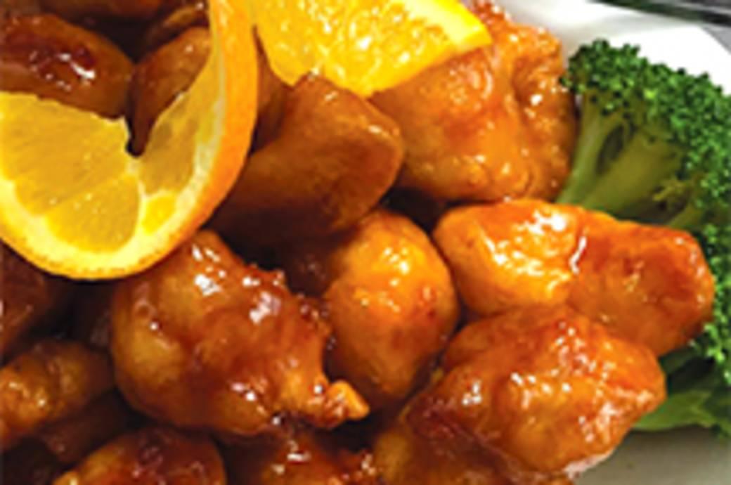 Orange Chicken at Singing Pandas Asian Restaurant & Bar