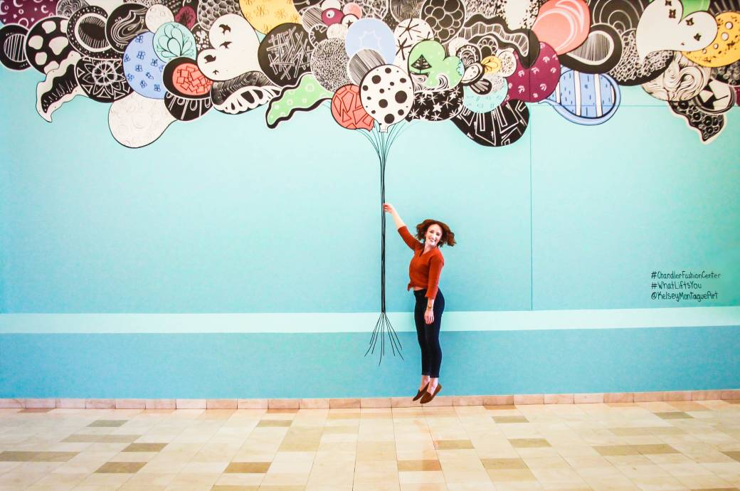 Chandler Fashion Center mall - Interactive Mural, What Lifts You