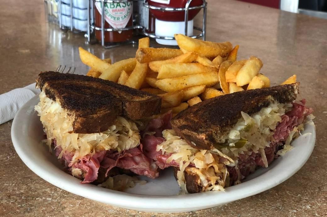 Hoosier Cafe in Chandler AZ - Reuben Sandwich