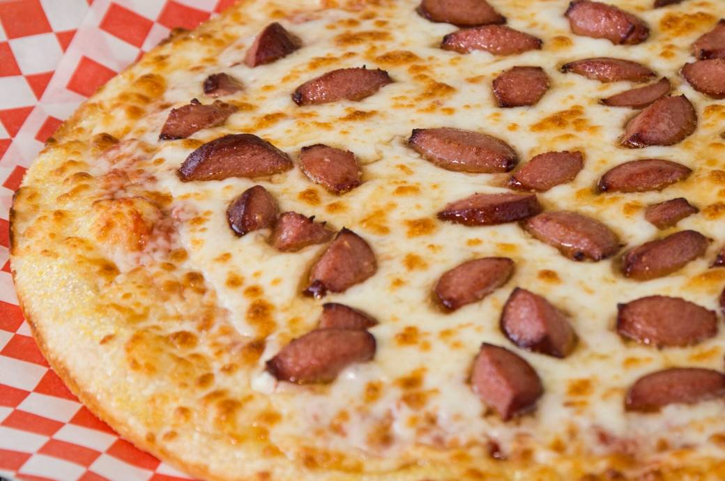 Grilled Hotdog Pizza at Buon Padre Pizza