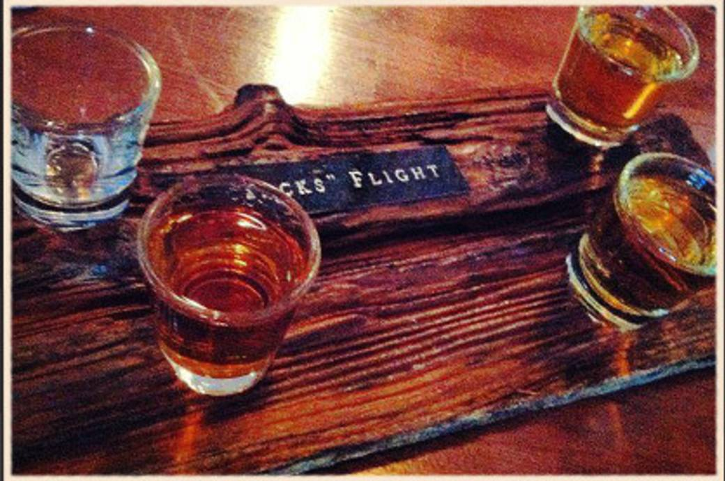 Whiskey Flight at Bourbon Jack's in Chandler, AZ