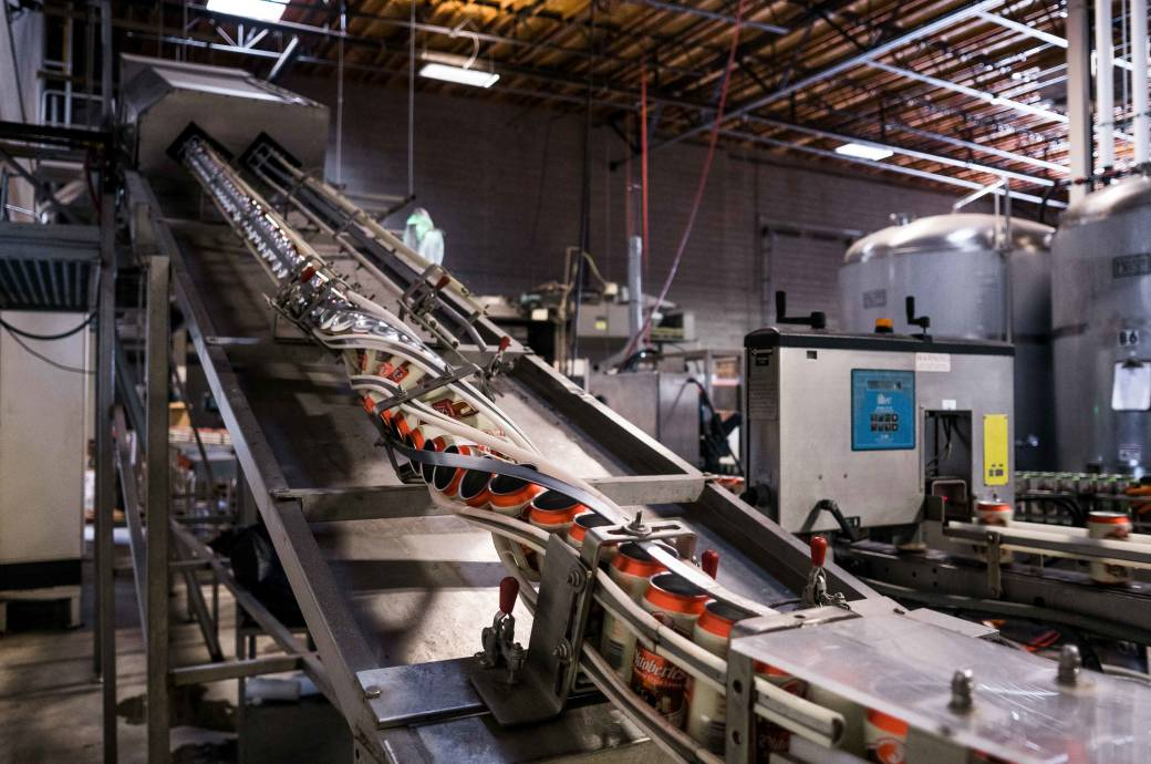 SanTan Brewery & Distillery Tours Conveyor Belt