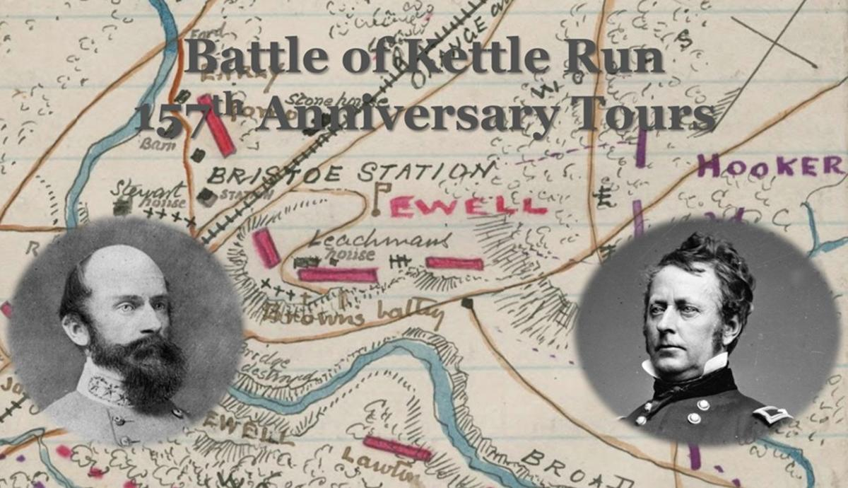 Event Flyer for 157th Battle of Kettle Run Anniversary Tours