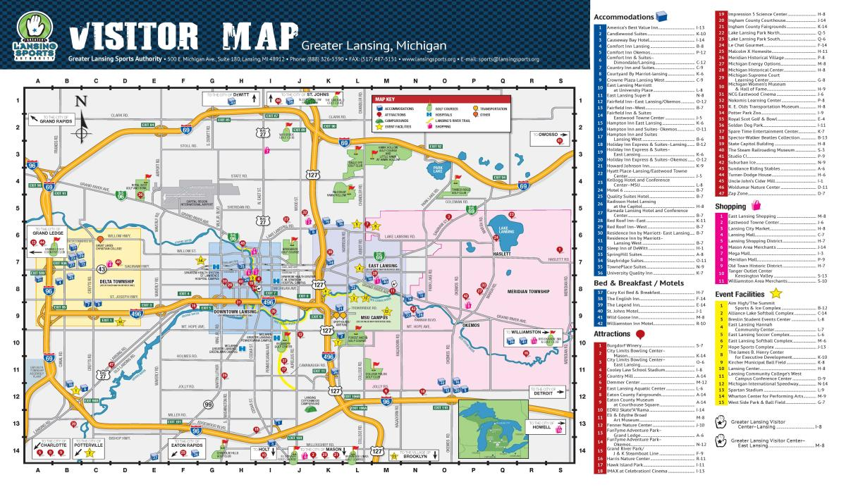 greater lansing visitor map