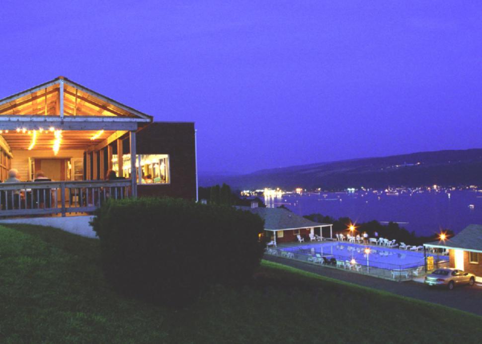 Beautiful views of Seneca Lake from this historic restaurant in Watkins Glen