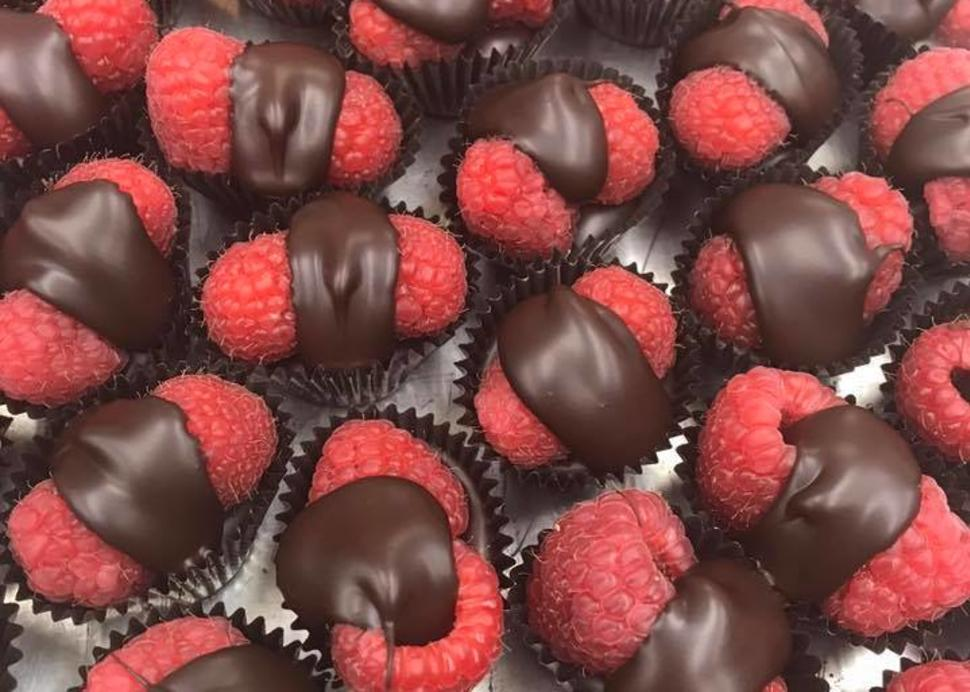 Chocolate Covered Raspberries from Stever's