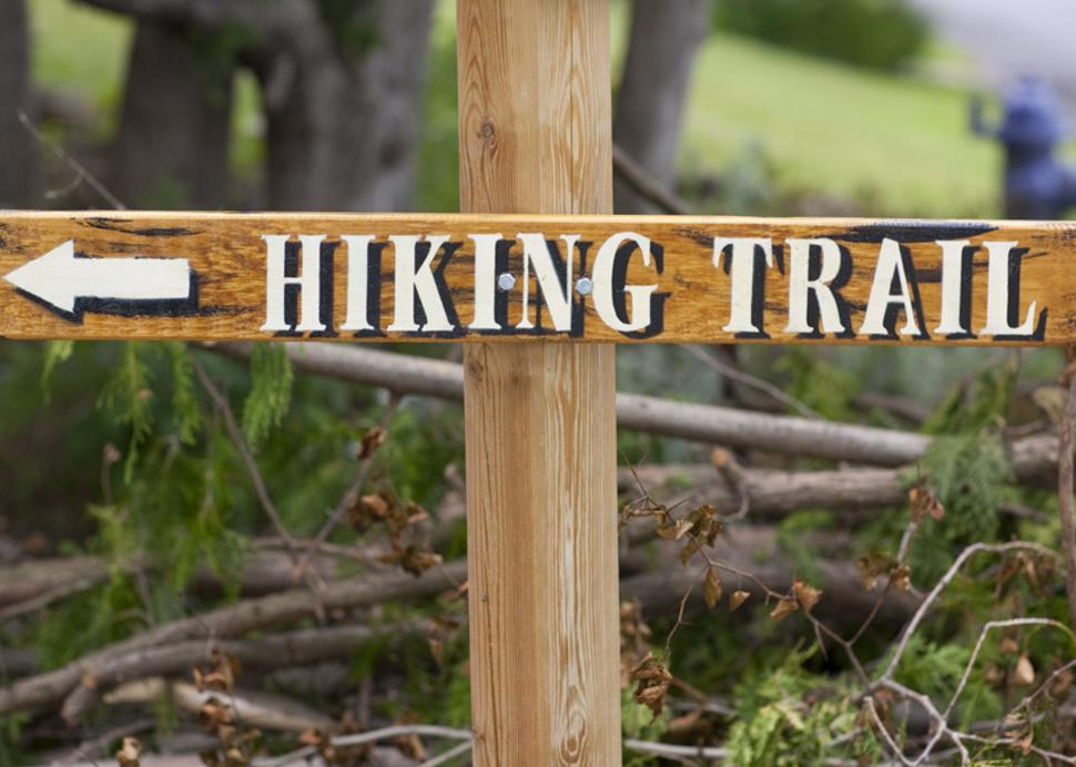 hiking trail marker