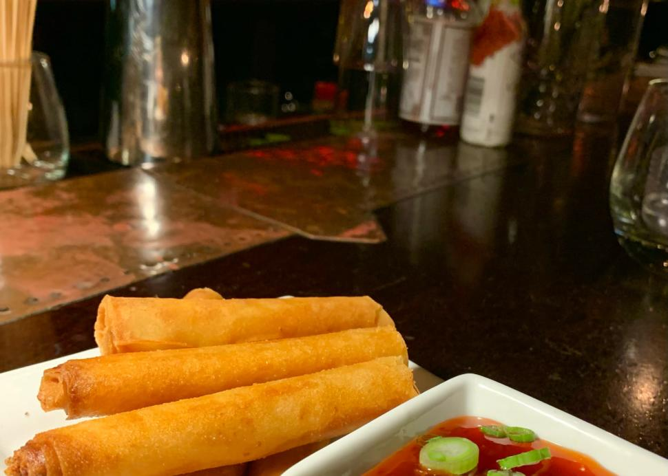 Crispy Philippine Chicken Egg Rolls at Tapas