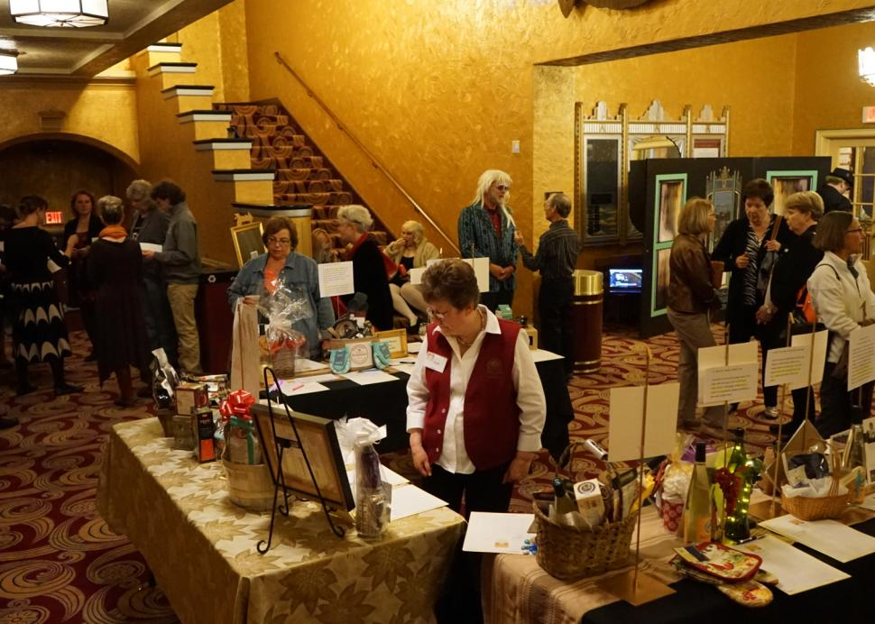 Auction in Smith Center for the Arts Lobby, Photo Credit: Jan Regan Photography