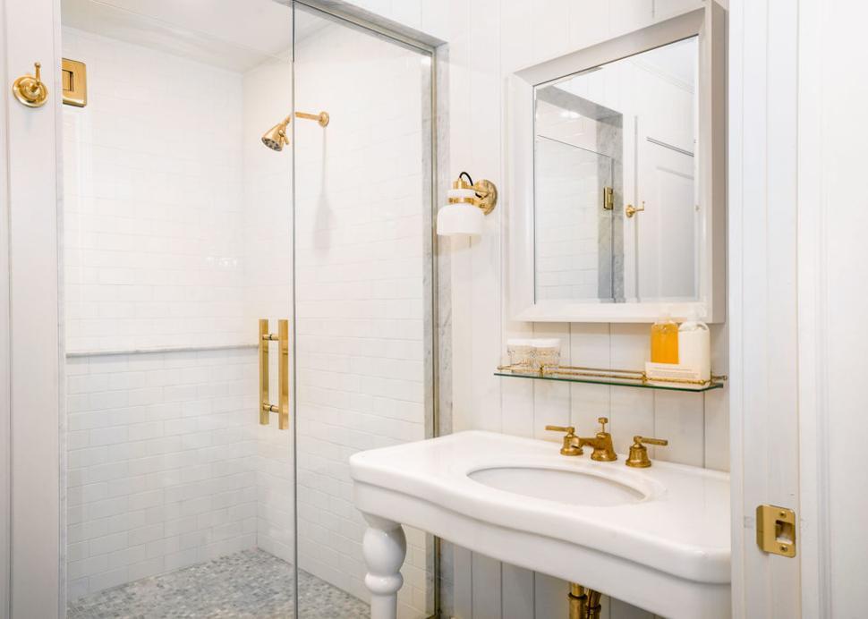 Bathroom inside The Lake House