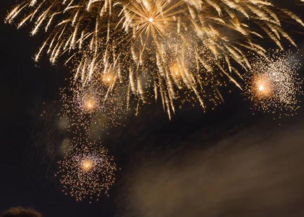 Fireworks at the campground