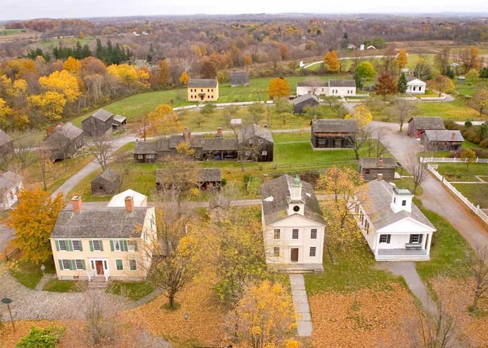 Aerial View of Genesee Country Village & Museum