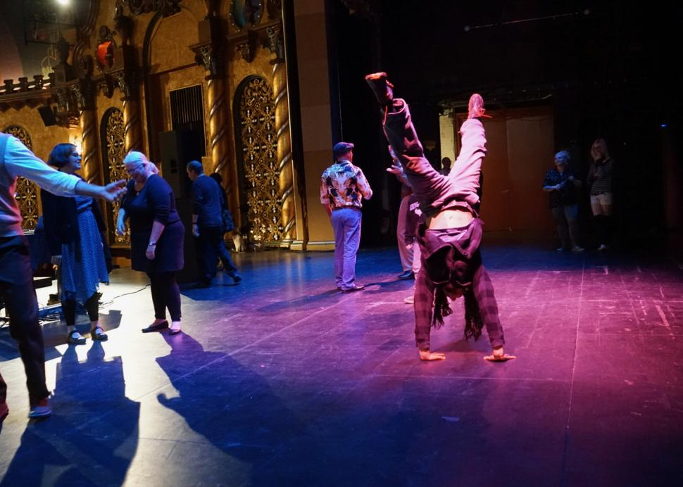 Dancing on stage at Smith Center for the Arts, Photo Credit: Jan Regan Photography