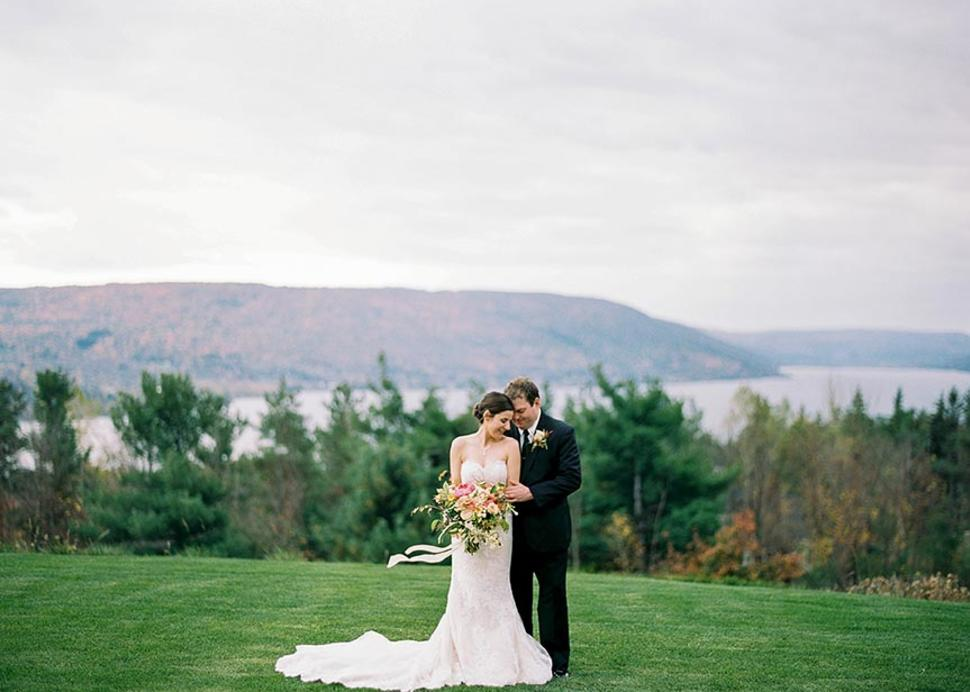 Fall Outdoor Wedding Ceremony at Bristol Harbour