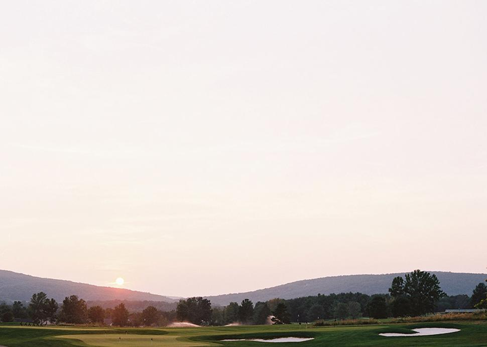 Sunrise Over Bristol Harbour's Finger Lakes Golf Course
